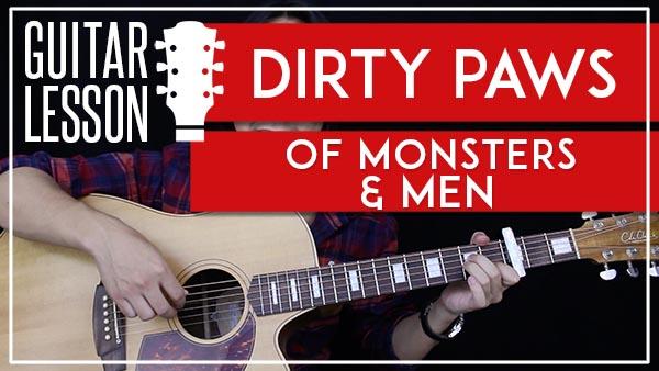 DIRTY PAWS - OF MONSTERS & MEN GUITAR LESSON - GuitarZero2Hero