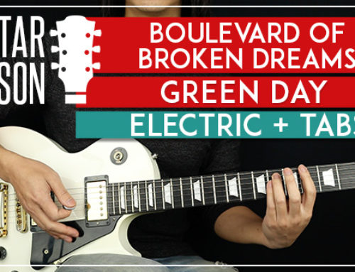 BOULEVARD OF BROKEN DREAMS ELECTRIC- GREEN DAY GUITAR LESSON