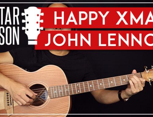JOHN LENNON – HAPPY XMAS GUITAR LESSON